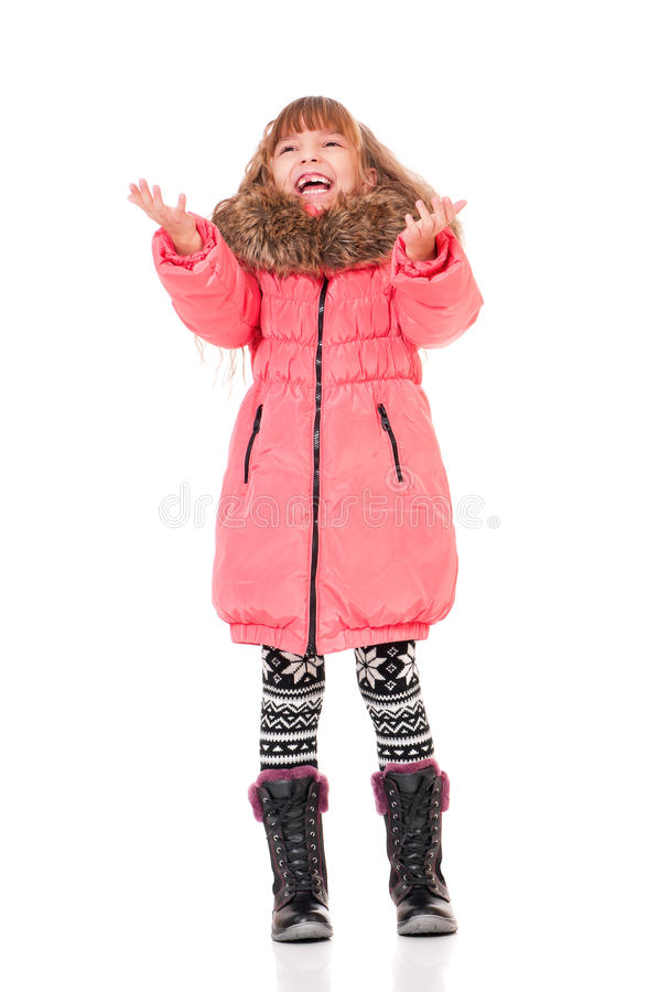 Download Little Girl In Winter Clothing Stock Photo - Image: 28215476