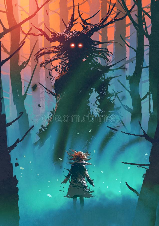 Witch of the black woods royalty free illustration