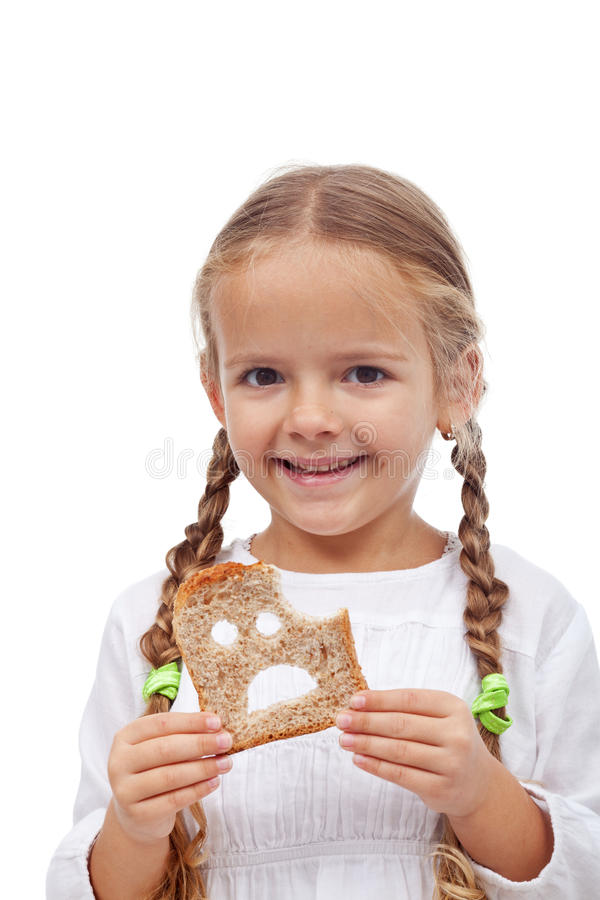 Free Little Girl With Bread Slice Royalty Free Stock Images - 29218469