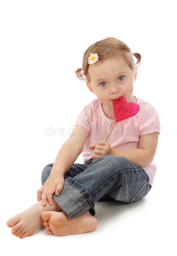 Free Little Girl With Lollipop Stock Photography - 11009692