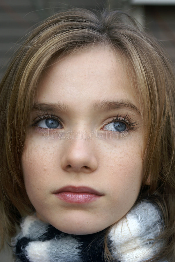 Free Little Girl With Scarf Stock Photography - 1776972