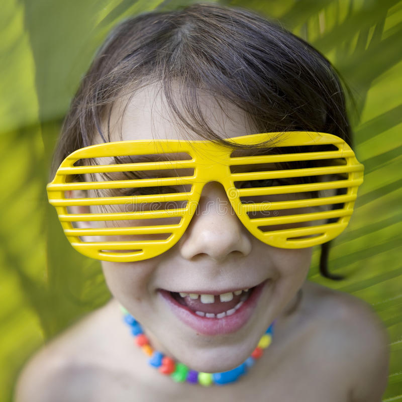 Download Little Girl In Yellow Sun Glasses Stock Images - Image: 10424494