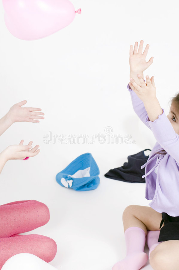 Free Little Girls And Balloons Royalty Free Stock Photography - 648227