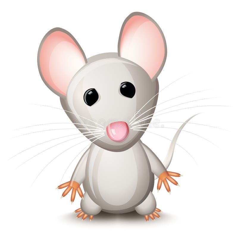 Little gray mouse vector illustration