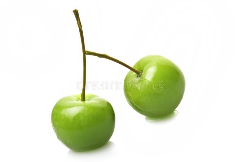 Little green apples stock photo