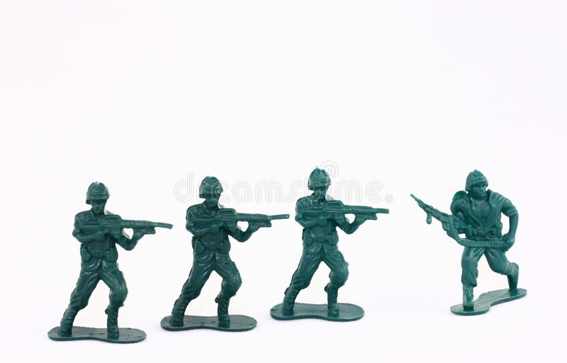 Little Green Army Men / Toy Soldiers royalty free stock images