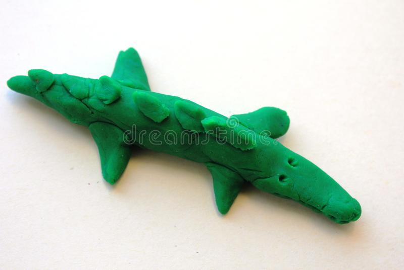 A little green crocodile stock photography