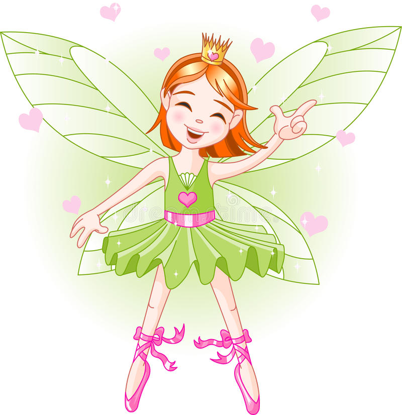 Little green fairy royalty free illustration