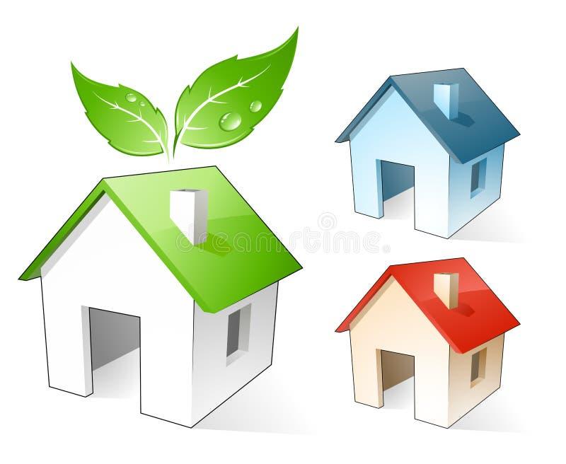 Little green house vector illustration