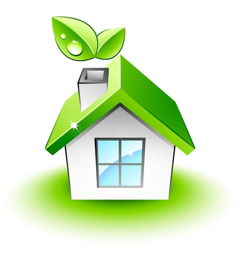 Little green house royalty free illustration