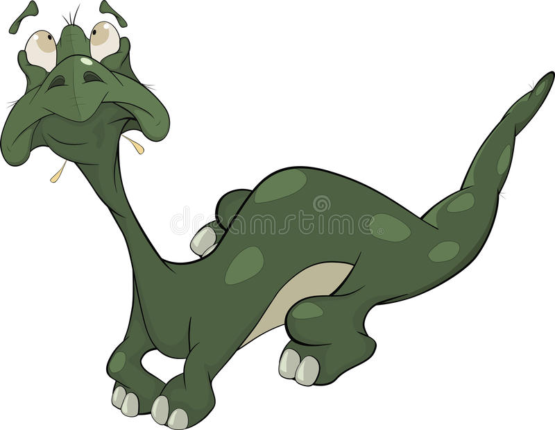 Little green lizard. Cartoon royalty free illustration