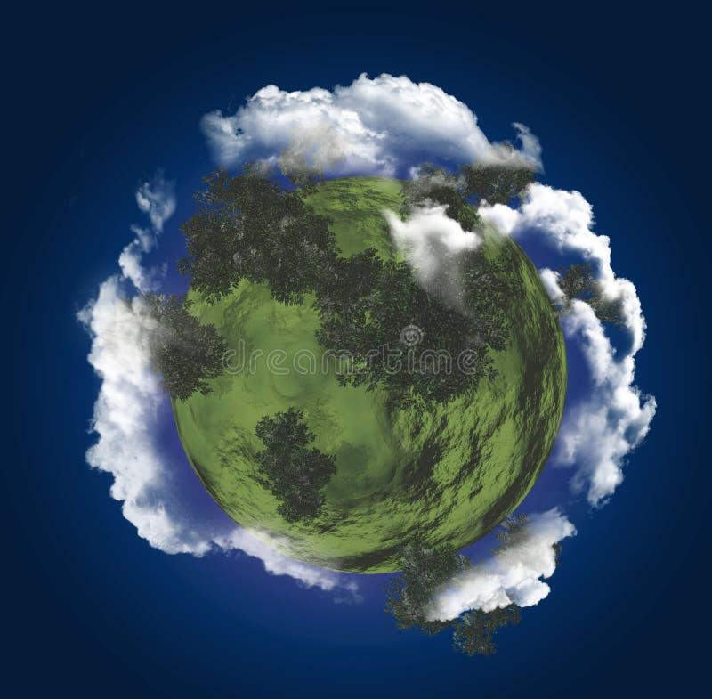 Download Little green planet stock illustration. Illustration of fields - 25931811