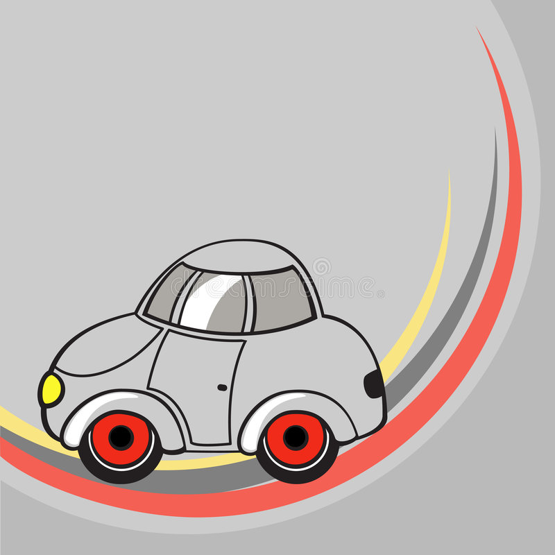 Free Little Grey Car Royalty Free Stock Photography - 7192807