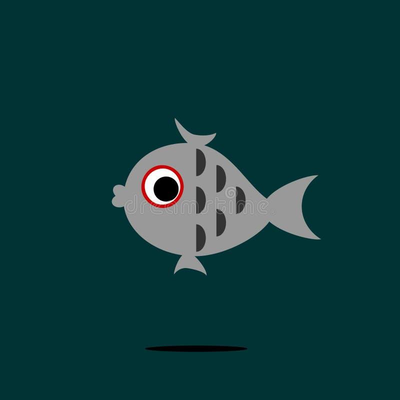 Little grey fish royalty free stock photo
