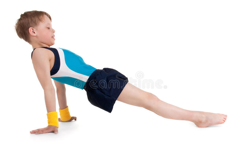 Little gymnast stock photography