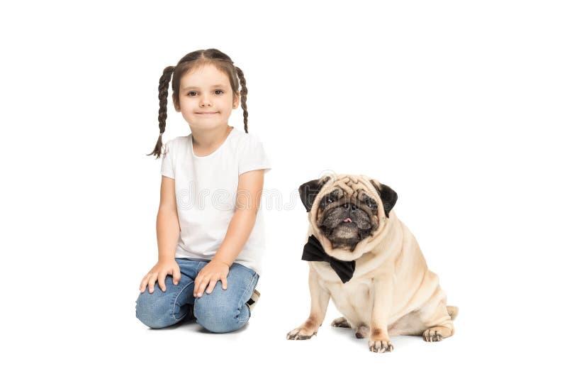 Best Pug Bow Adorable Dog - little-happy-adorable-girl-sitting-pug-dog-bow-tie-little-happy-adorable-girl-sitting-pug-dog-bow-tie-isolated-99272514  Snapshot_59730  .jpg