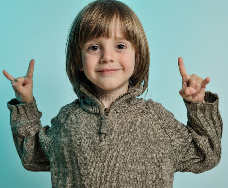 Little happy boy royalty free stock images