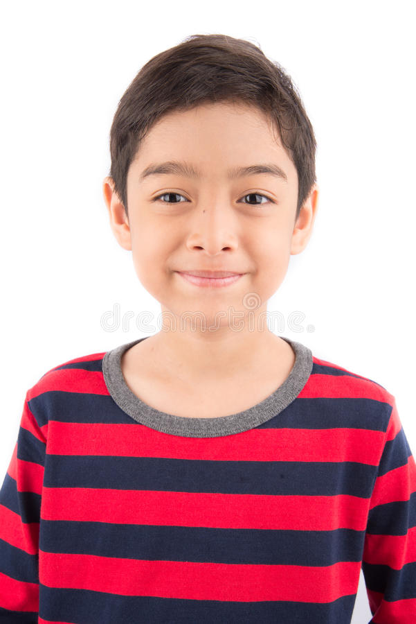 Little happy boy laugh looking at camera royalty free stock photos