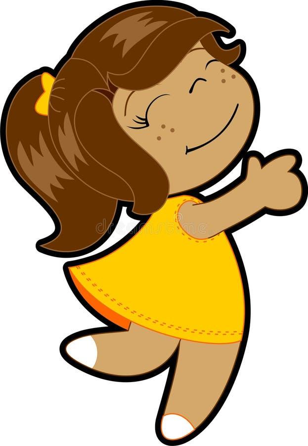 Download Little happy girl stock vector. Image of children, active - 9341406