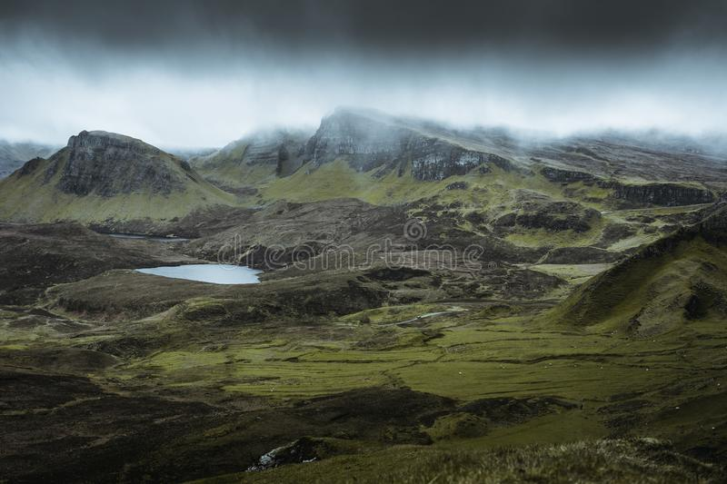 Quiraing - the most beautiful landscape in Scotland royalty free stock photography