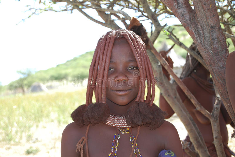 Little himba boy royalty free stock photography
