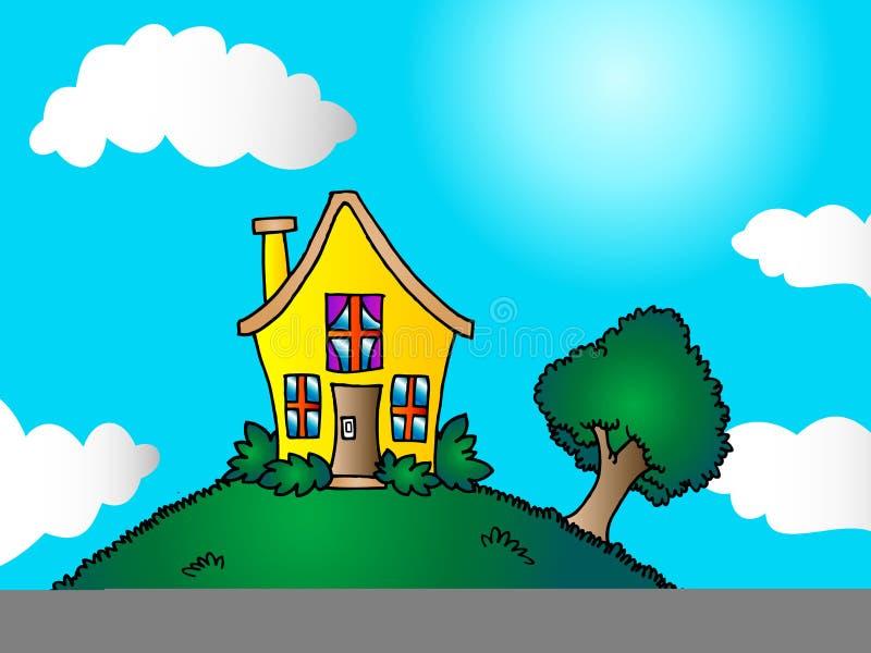 Little house royalty free illustration