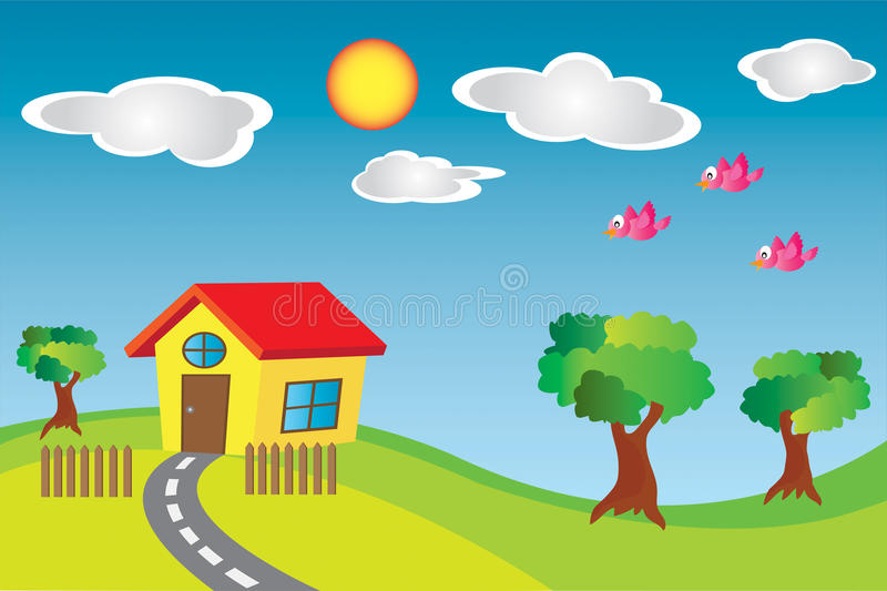 Little House in the Country stock photography