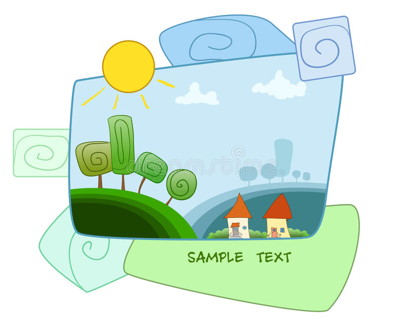 Download Little house stock vector. Image of beauty, shine, property - 32083212