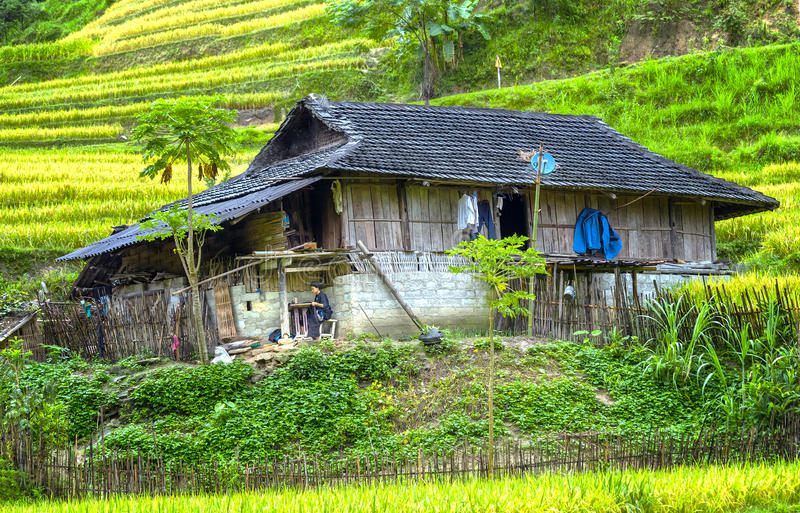 Little House on the Prairie Northwest Vietnam stock images