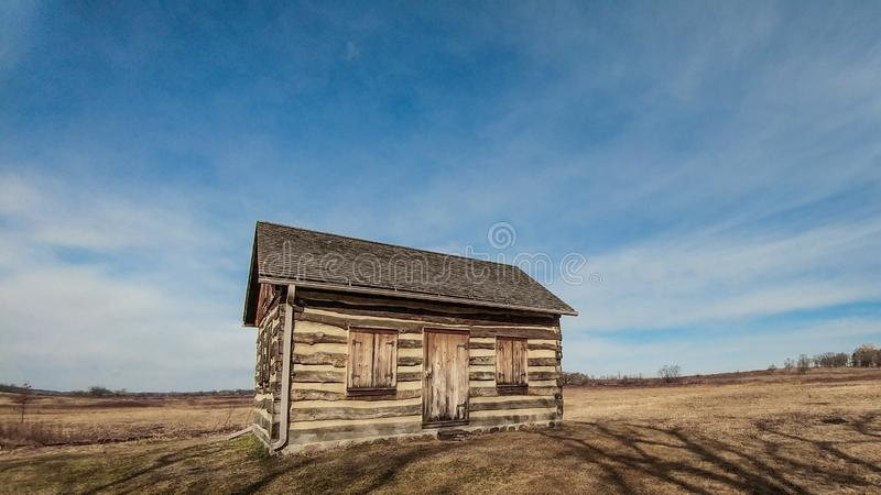 Little House on the Prairie, WI stock photo