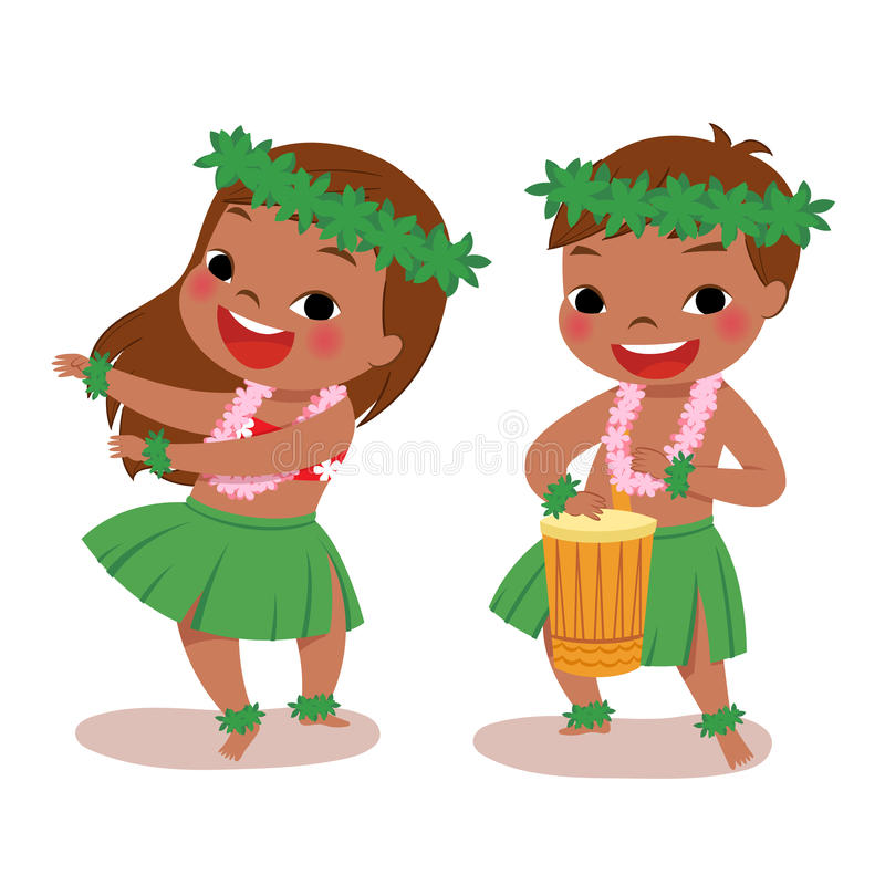 Free Little Hula Dancers Stock Image - 54871341