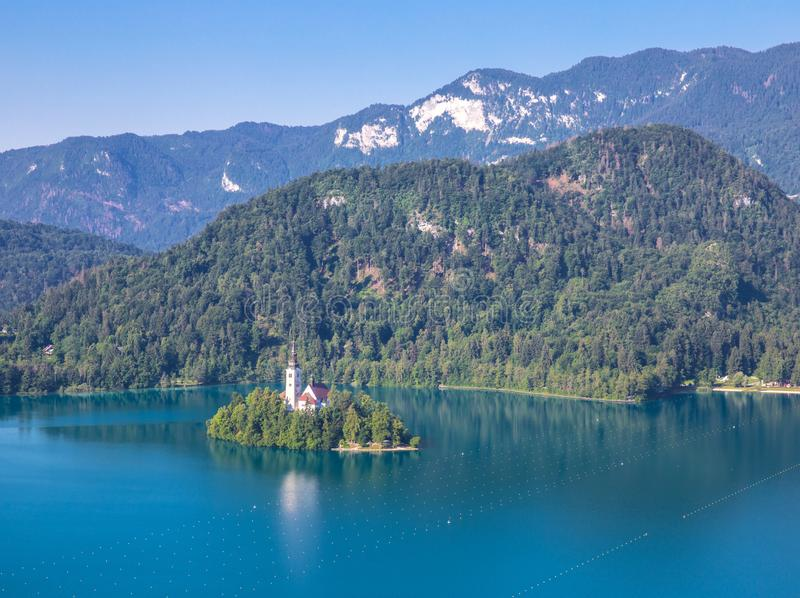 Island of Bled in slovenia royalty free stock photo