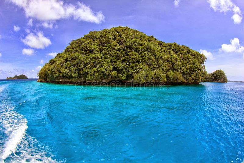 Little Island in Palau royalty free stock images