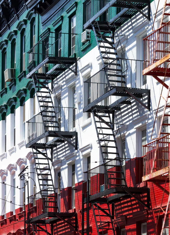 Little Italy Fire Escape Stock Photo. Image Of Buildings
