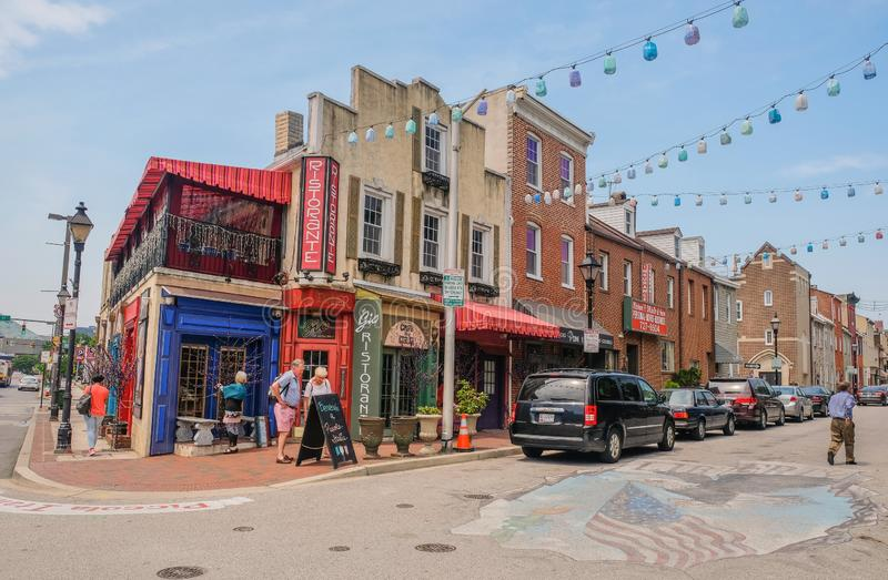 Little Italy in Baltimore, Maryland royalty free stock images