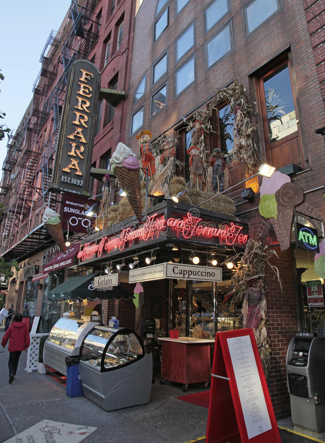 Little Italy, Mulberry St., New York City Editorial Stock