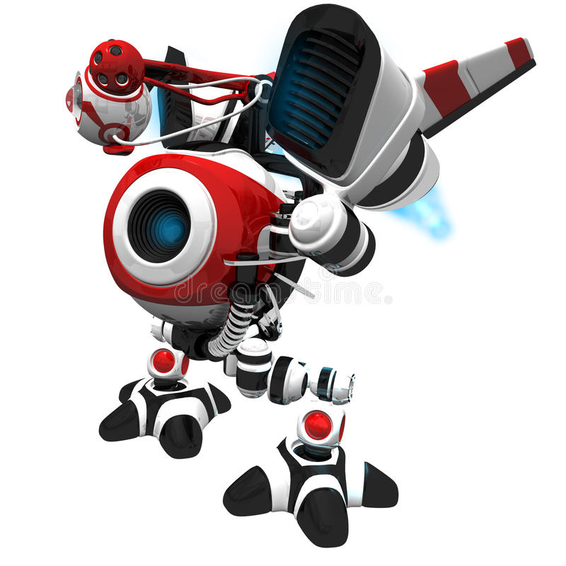 Download Little Jet Robot Looking To The Future Stock Illustration - Illustration of data, cybernetic: 21902902