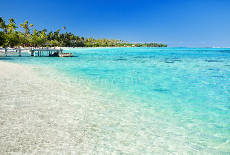 Download Little Jetty On Tropical Beach With Amazing Water Stock Image - Image: 9774163