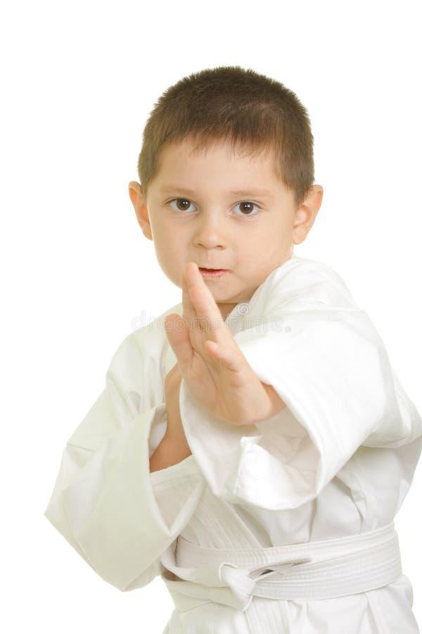 Little karate boy royalty free stock photos