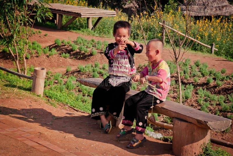 Little karen children stock photo