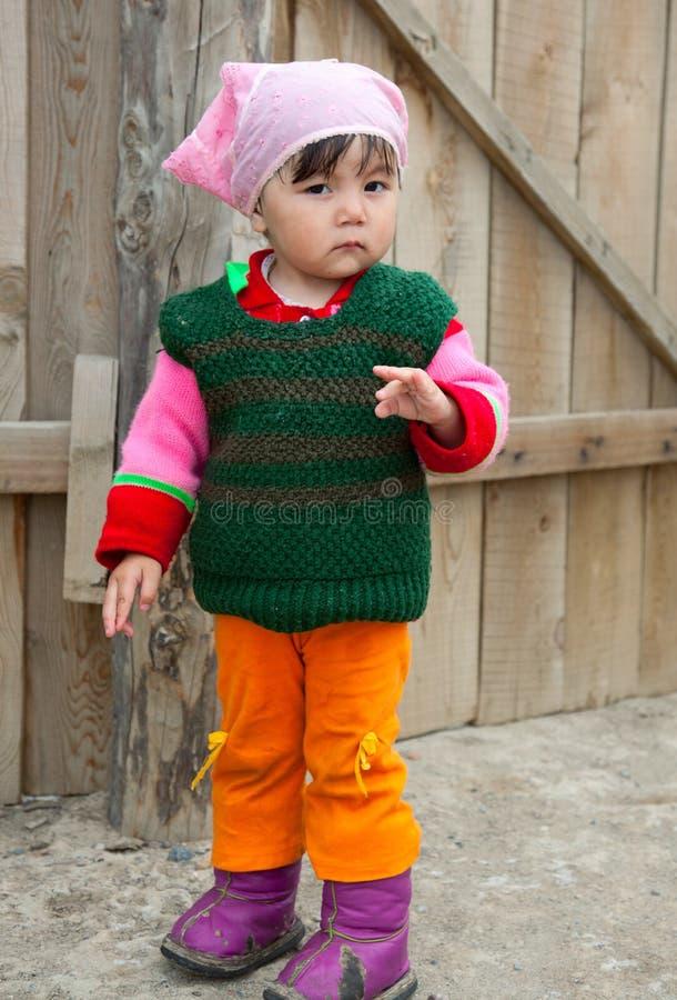 Little Kazakh girl stock images