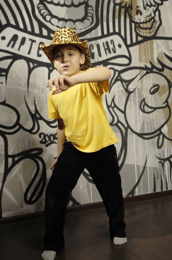 Little kid dancing royalty free stock image