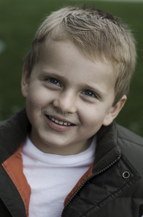 Little kid smiling stock photography