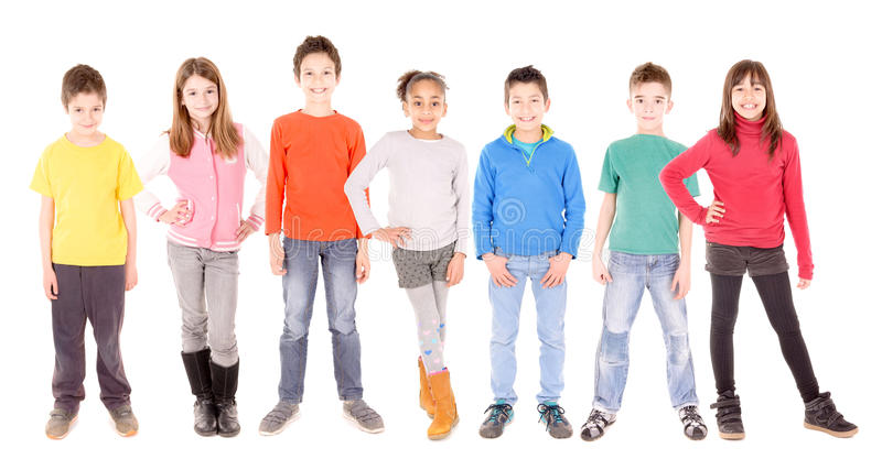 Little kids stock image