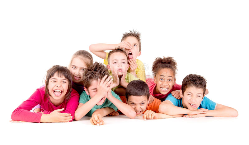 Little kids stock photography