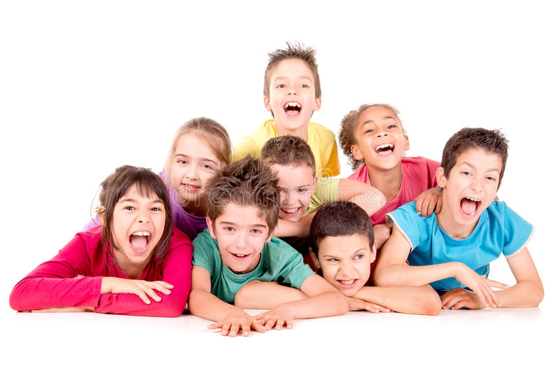 Little kids royalty free stock photos