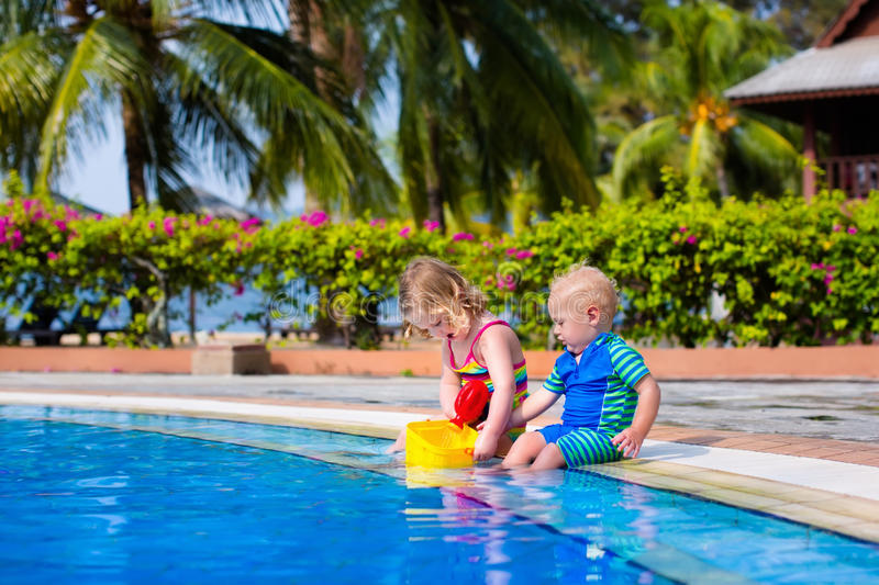 Little Kids In Swimming Pool Stock Photo Image Of Caucasian Baby 72024796