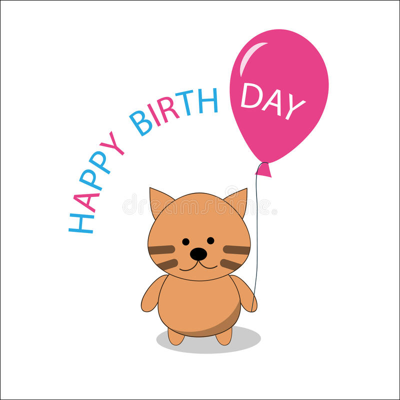 Download Little Kitty And Balloon Royalty Free Stock Images - Image: 15533919
