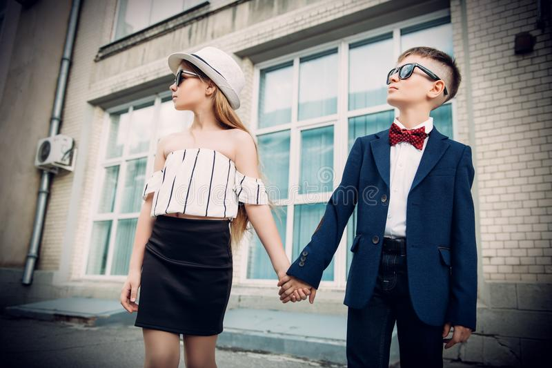 Little lady and gentleman royalty free stock photos