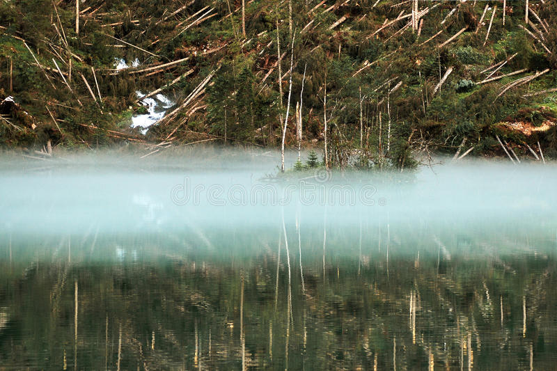 Download The Little Lake In The Morning Haze Stock Photo - Image: 37778434